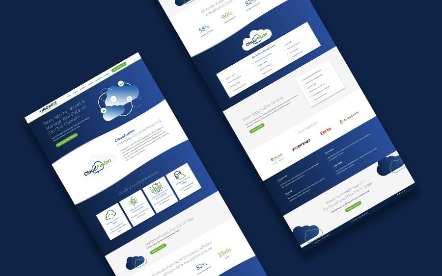 Web design for data software