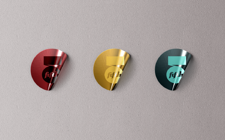 Stickers with jazz bar logo