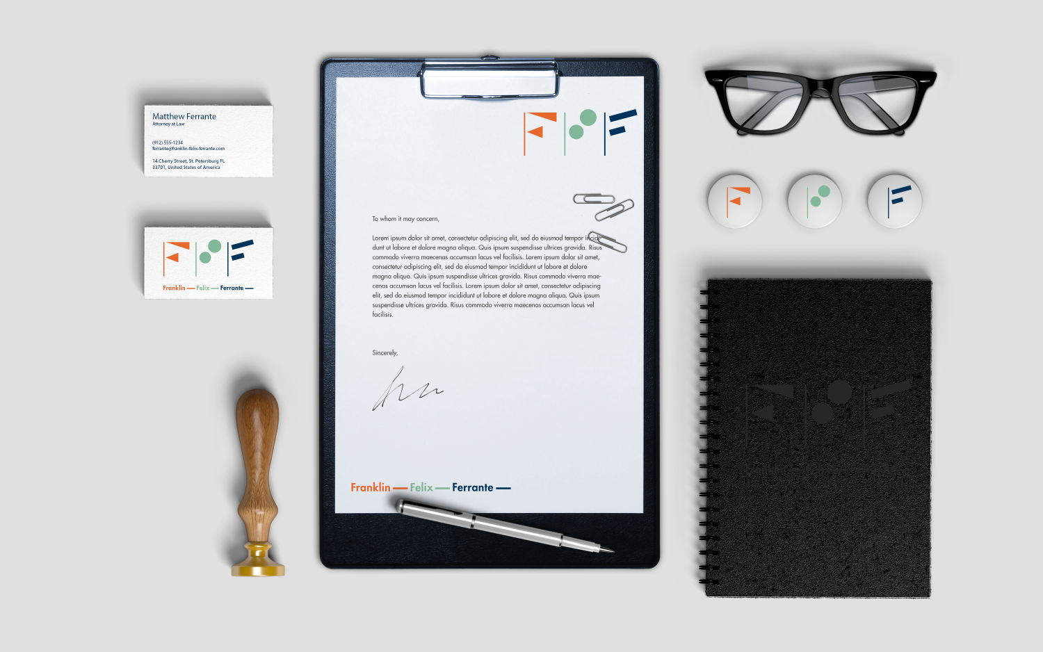 Branded stationary for law firm