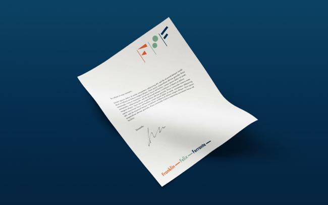 branded letter head design for law firm