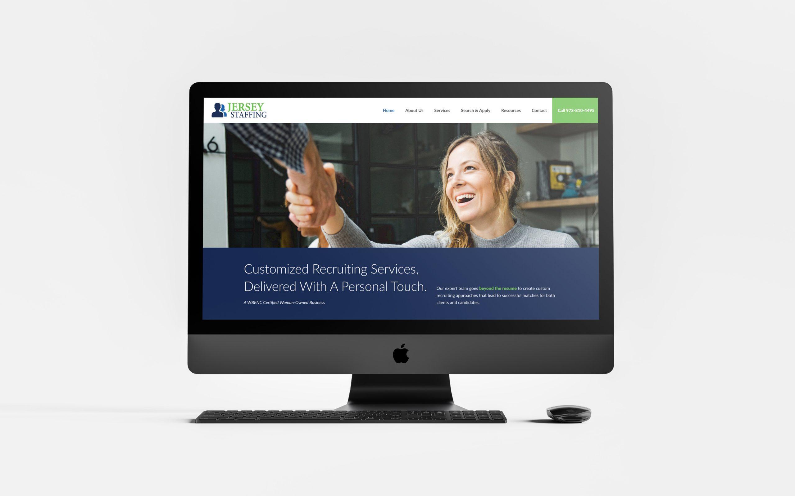 Website design for staffing