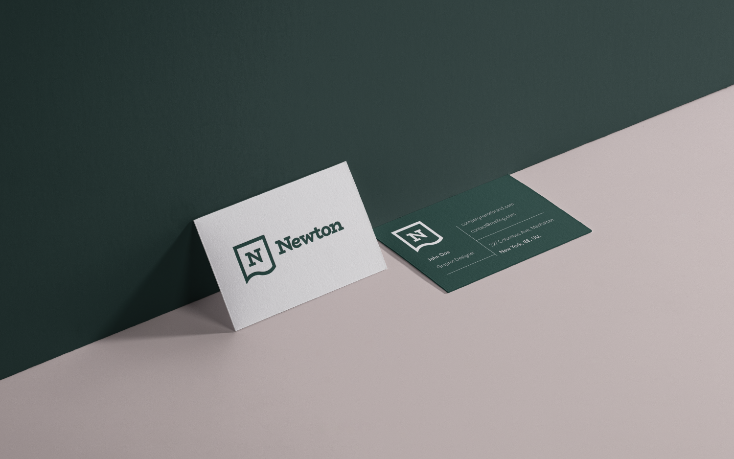 Newton branding business cards