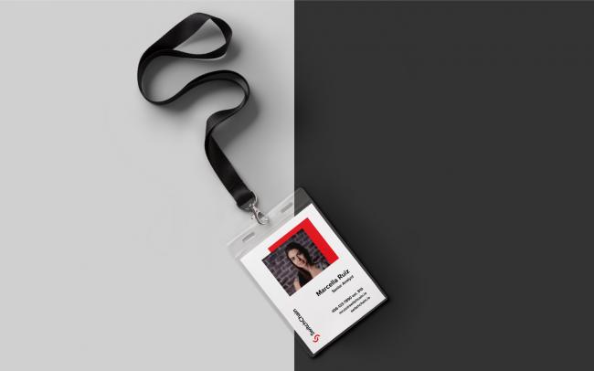 id badge design for tech company