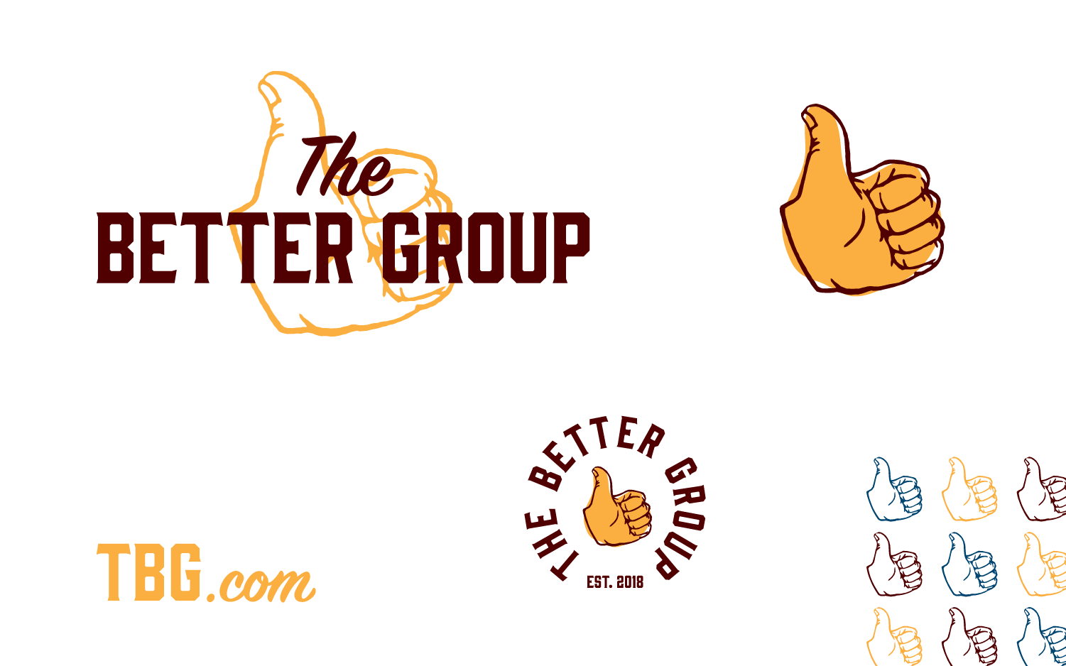 The Better Group, non-profit logo and branding lockups