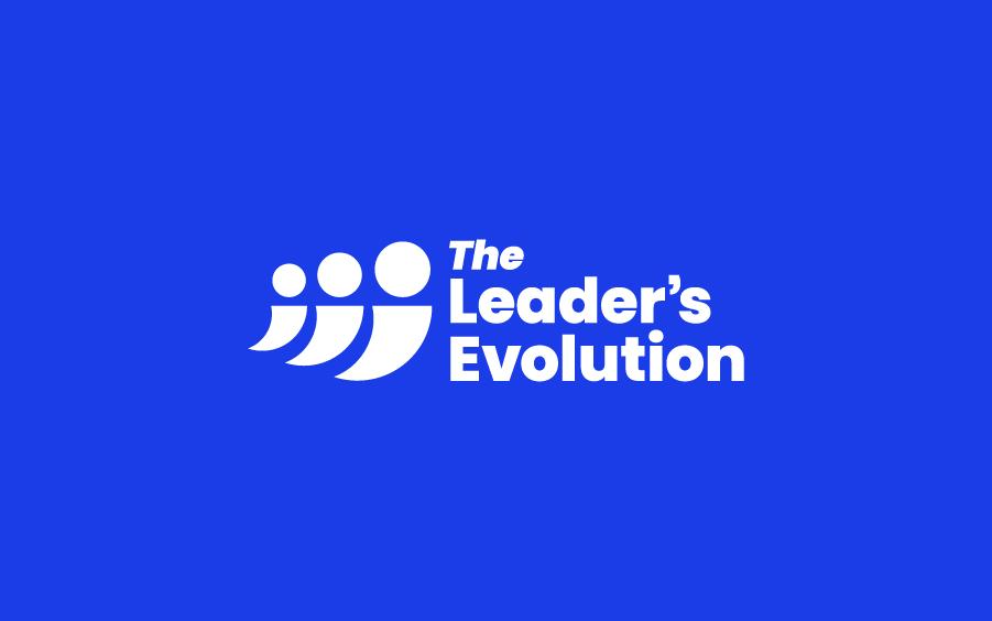 Logo design on blue background for leadership coaching business