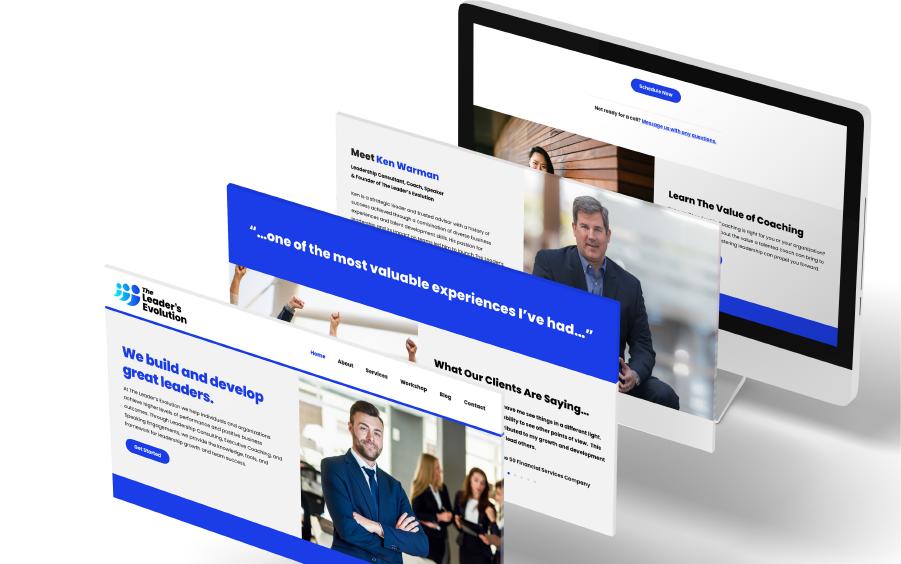 Web design screen mockups