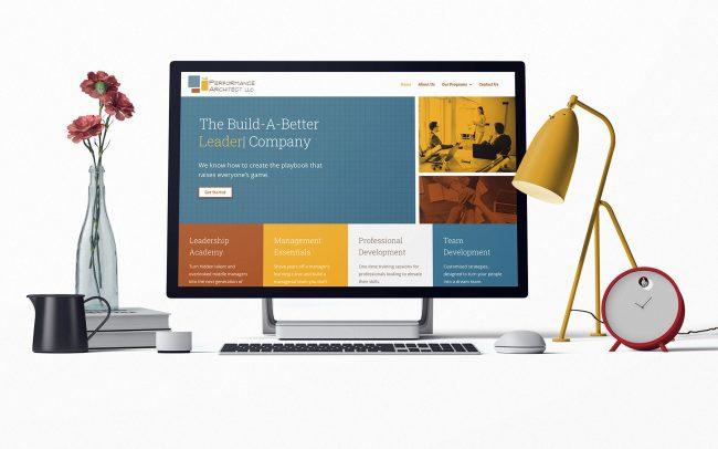 Website design mock up for leadership training program